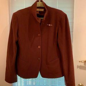 Burnt Orange Classic Donna Karan Jacket